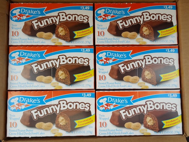 Drakes Cakes case of Funny Bones